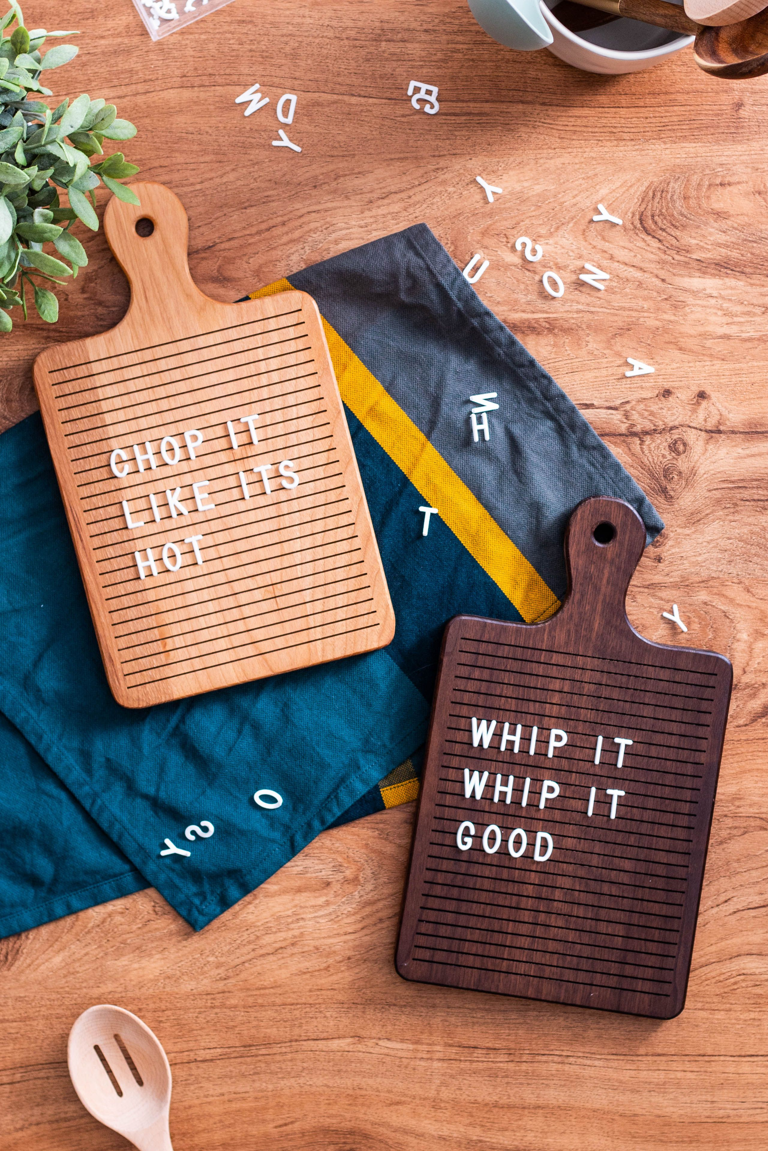 Kitchen letter boards wooden letters decorated wooden