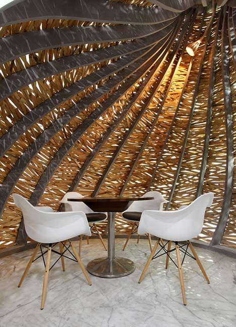 Exhibition Stand Design Decor S L : Giant timber nest provides meeting room at baya park