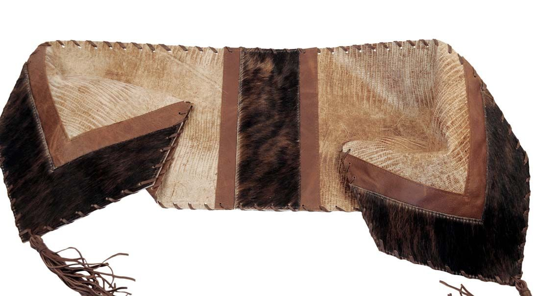 Lizard Leather Table Runner 943 Western Kitchen And Dining Decor