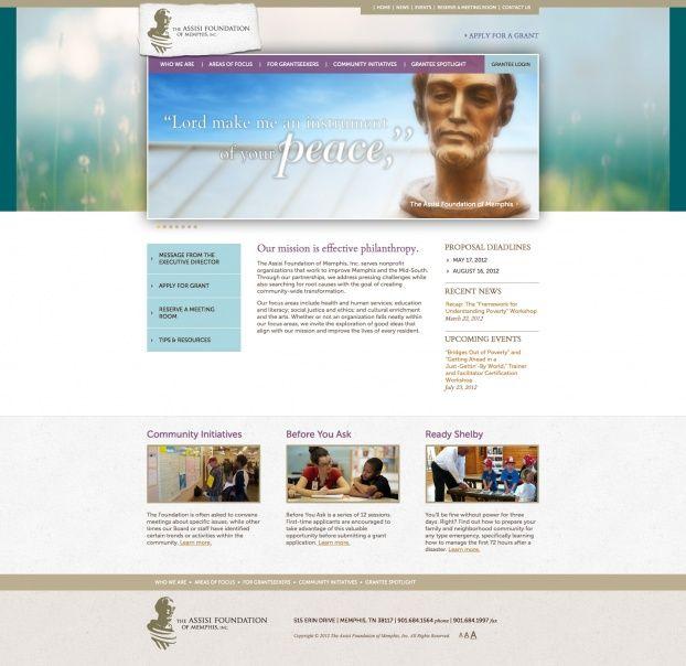 Web Design Memphis Assisi Foundation Www.assisifoundation