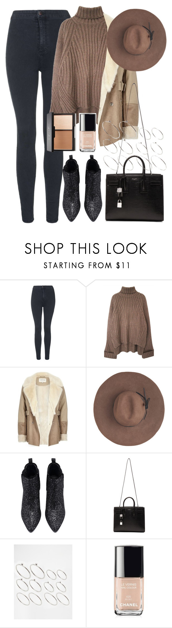"""""""Untitled #767"""" by rguelsah ❤ liked on Polyvore featuring Topshop, River Island, Eugenia Kim, Yves Saint Laurent, ASOS, Chanel, women's clothing, women, female and woman"""