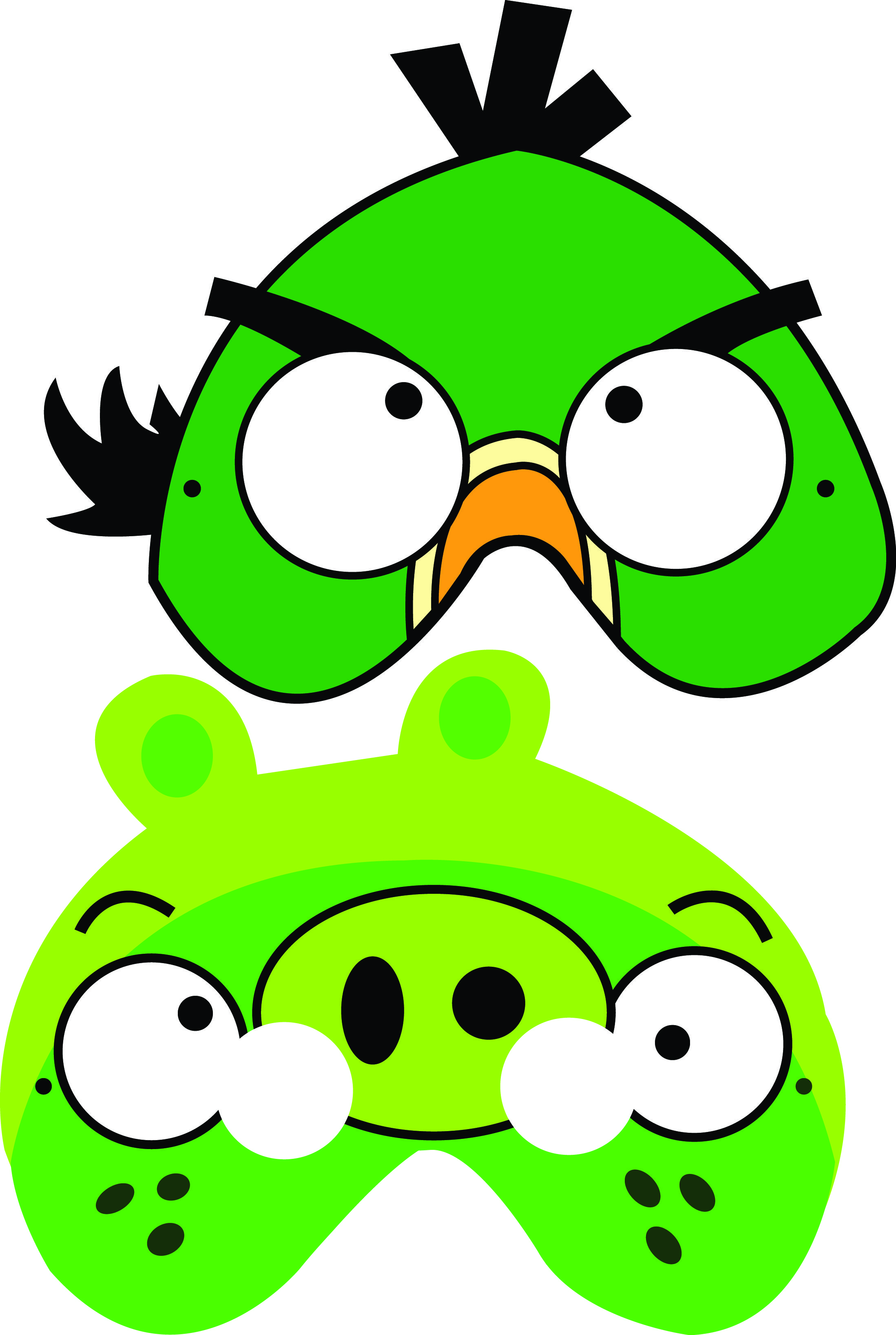 Free Angry Birds Printable Masks
