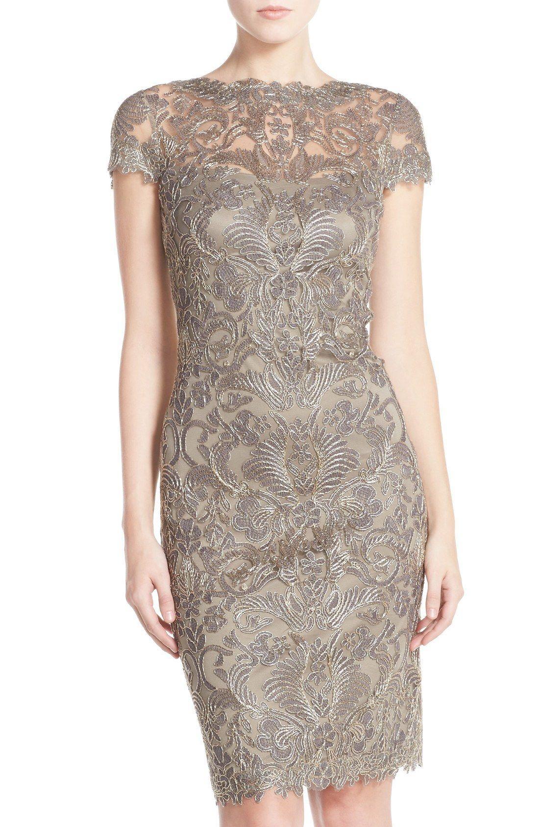 Illusion Yoke Lace Sheath Dress | Sheath dresses, Overlays and Illusions