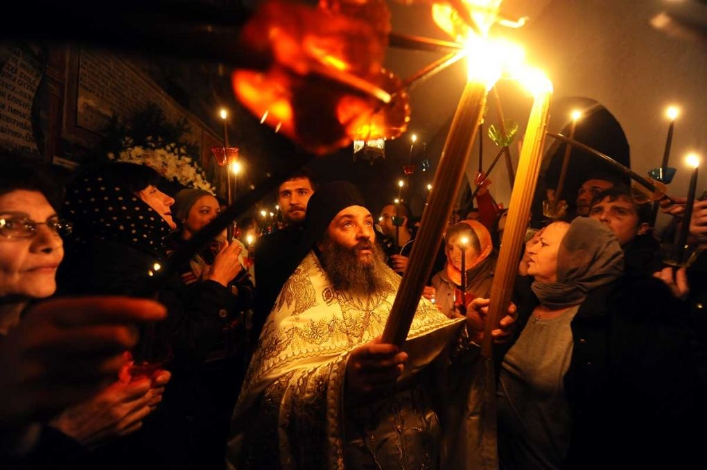 Celebrating Orthodox Easter in the monastery of St. John Bigorski, in the western part of Macedonia