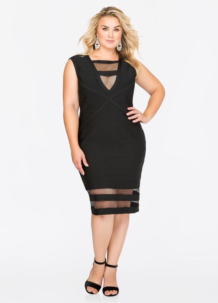 Mesh Hem Bodycon Bandage Dress Mesh Hem Bodycon Bandage Dress