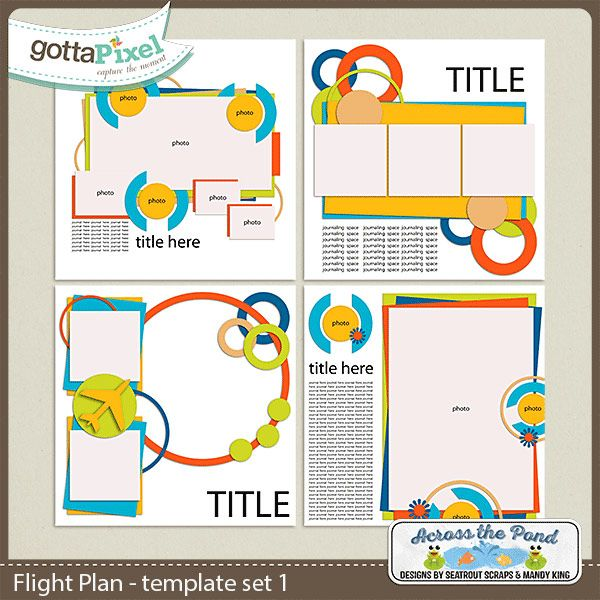 Flight Plan Template Set 1 Digital Scrapbook by Designs by Mandy - flight plan template