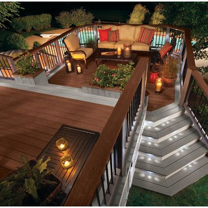 trex treads with stone risers - Google Search | Outdoor Living Area ...