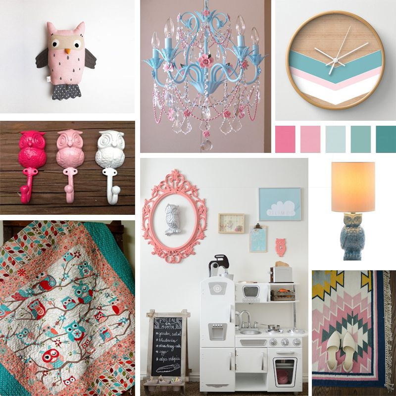 This Is A Superb Owl Themed Room Mood Board. The Light