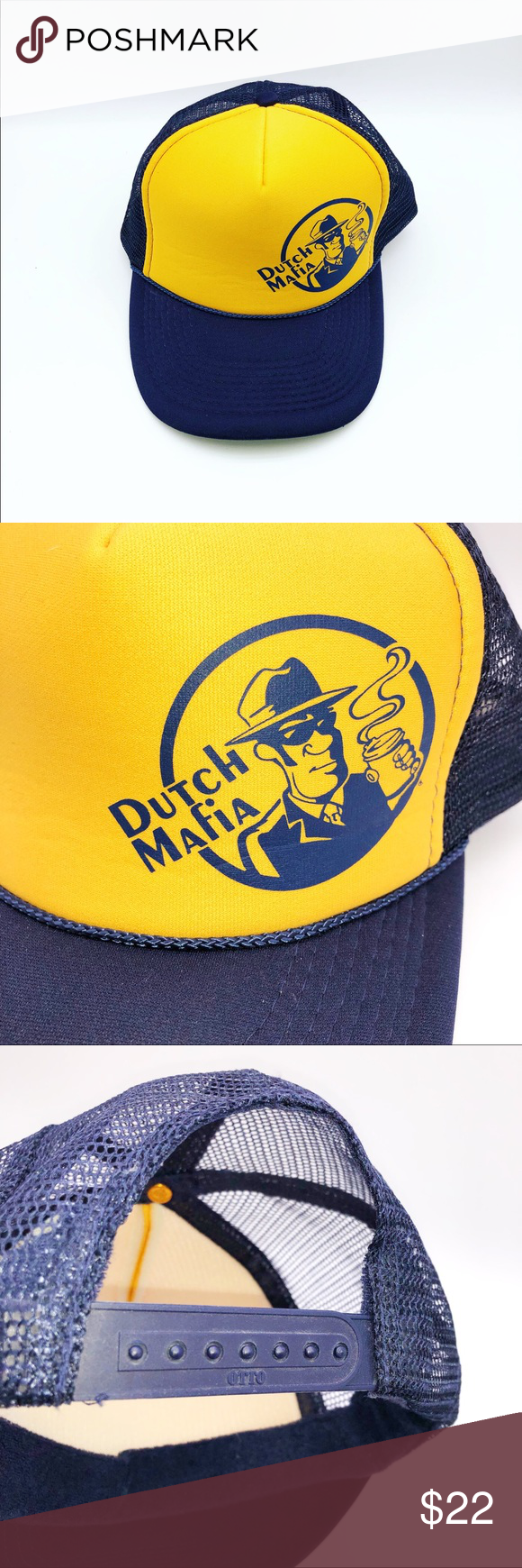 Dutch Bros Dutch Mafia Snapback Hat Dutch Bros Dutch Mafia Snapback Hat   •Mesh  •Adjustable back  In good preowned condition. Accessories Hats #dutchbros Dutch Bros Dutch Mafia Snapback Hat Dutch Bros Dutch Mafia Snapback Hat   •Mesh  •Adjustable back  In good preowned condition. Accessories Hats #dutchbros