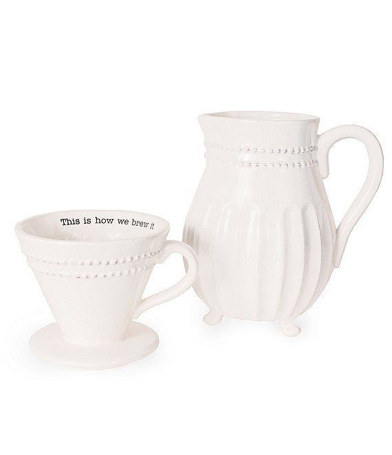Mud Pie Circa Stackable Pour Over Coffee 2-Piece Set | Dillard's