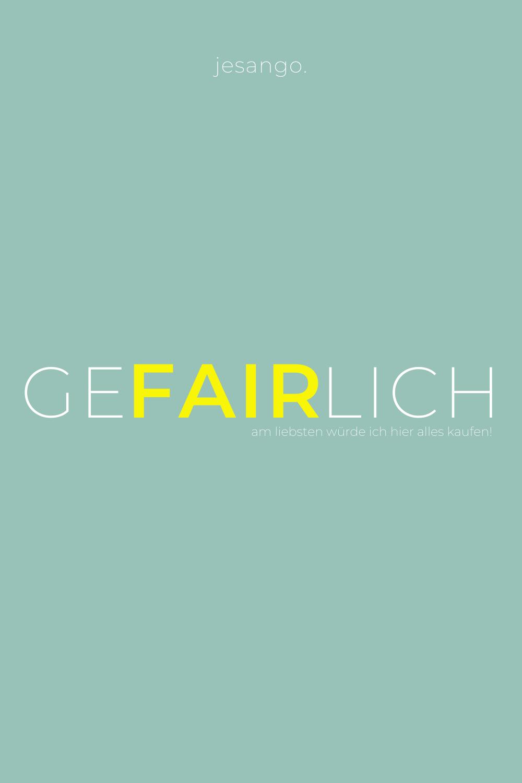 GEFAIRLICH | Fair Fashion in 2020 | Fashion online shop ...