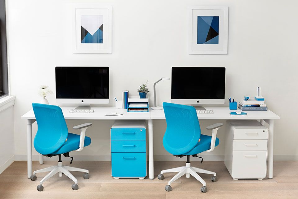 Series A Single Desk For 2 Office Furniture Poppin