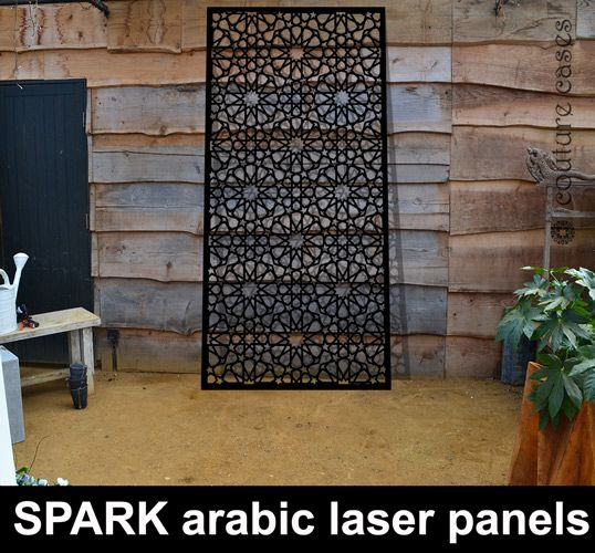 Moroccan Fretwork Panels: SPARK Arabic Pattern Laser Cut Panels
