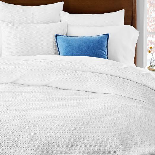 Organic Textured Waffle Duvet Cover Shams Textured Duvet Textured Duvet Cover Bed Duvet Covers