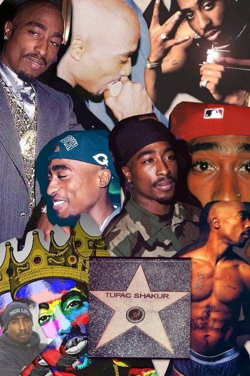 Collage Of Tupac With Images Tupac Wallpaper