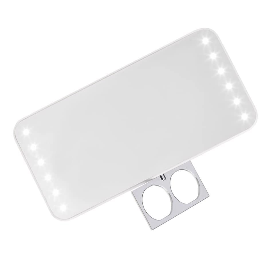 Travel Size Makeup Mirror With Professional Lighting Travel
