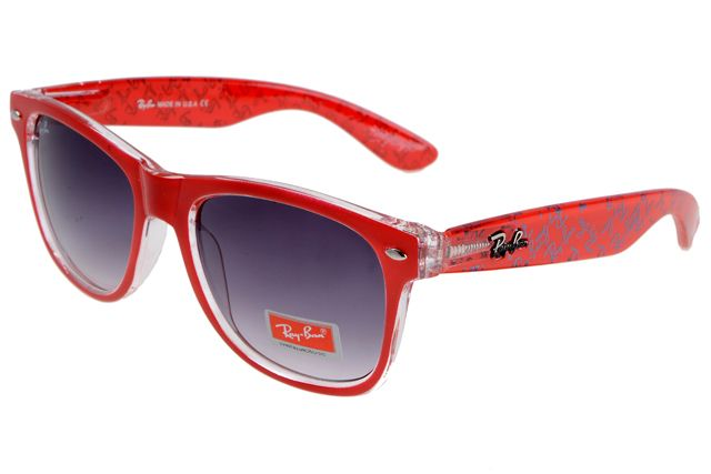 b7a7224bfe27c3 Want To Get The Ray Ban Wayfarer Logo Prints RBZX300 Purple Red Sunglasses   Will You Be Good Enough To Get It!