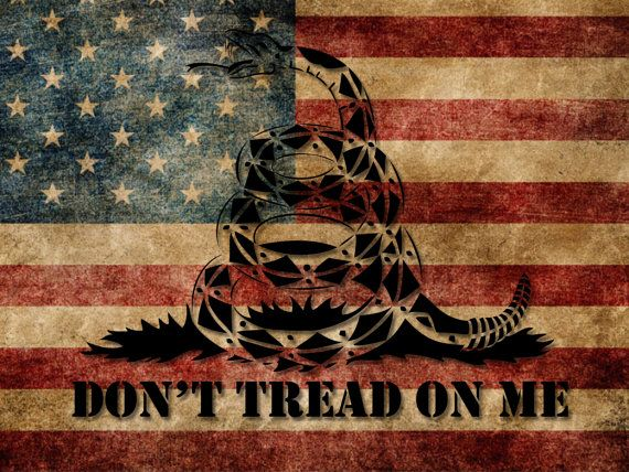 5x8 dont tread on me vehicle vinyl decal sticker grunge style american flag sticker usa gadsden tea party nra