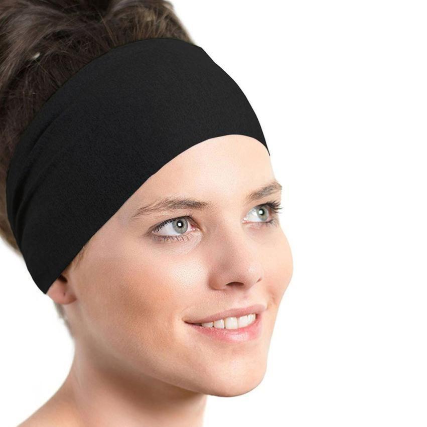 Sweat Absorbent Wide Hair Band Stretch Ribbon Hair Ribbon Elastic Headbands