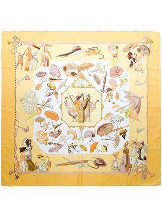 """Hermès Vintage """"Ombres et Parapluies"""" scarf"""