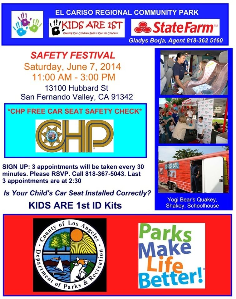 Our next safety event will be in San Fernando valley CA