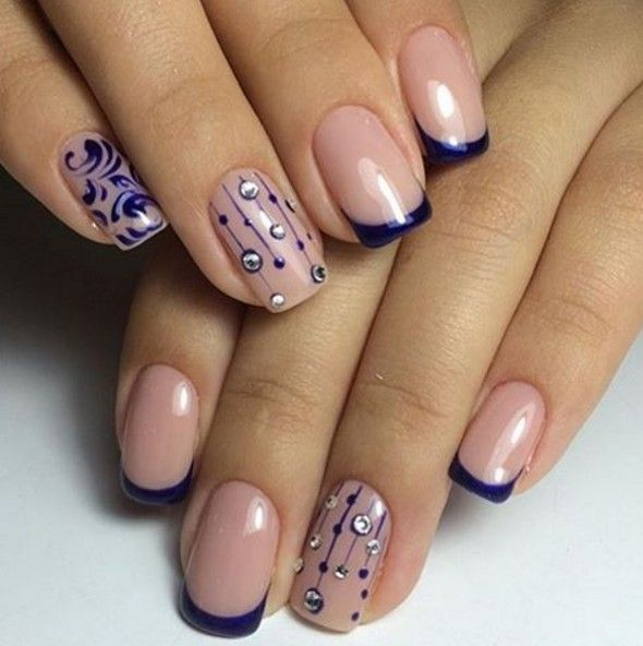 French nail design nails pinterest french nails manicure french nail design prinsesfo Choice Image