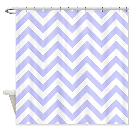 Cafepress Periwinkle Blue Chevrons Shower Curtain Decorative Fabric Shower Curtain Chevron Shower Curtain Fabric Shower Curtains Grey Chevron Shower Curtain