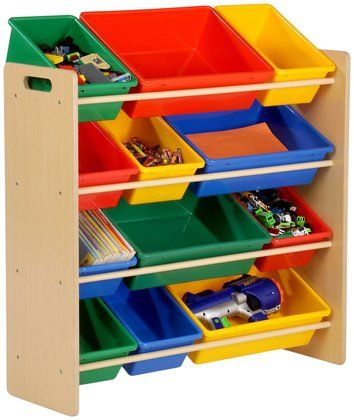 Honey Can Do 12 Bin Kids Toy Storage Organizer Natural Toy Room Organization Toy Storage Organization Kids Storage