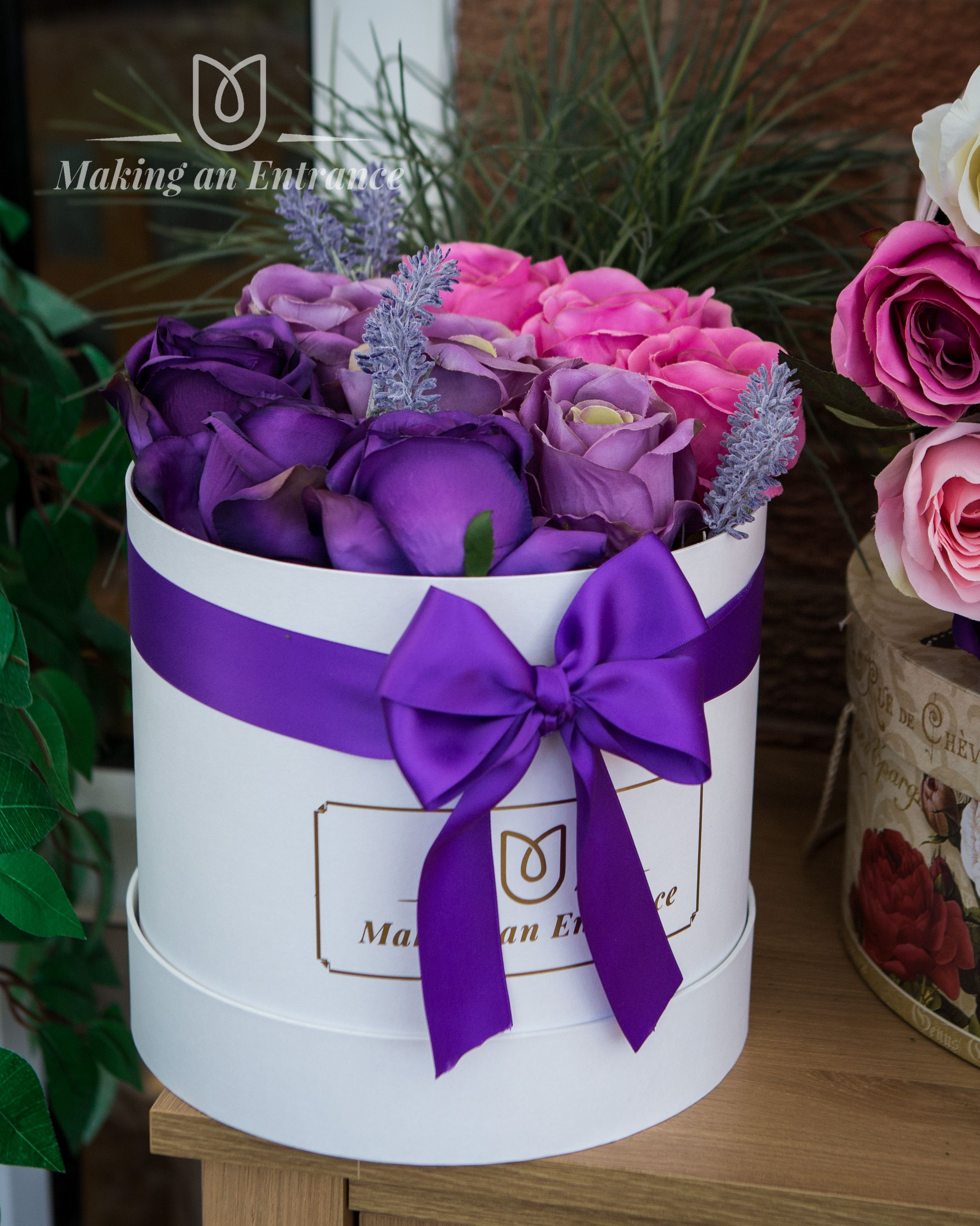 Foam Roses In A Hat Box Perfect Gift For Any Occasion. Artificial Flowers