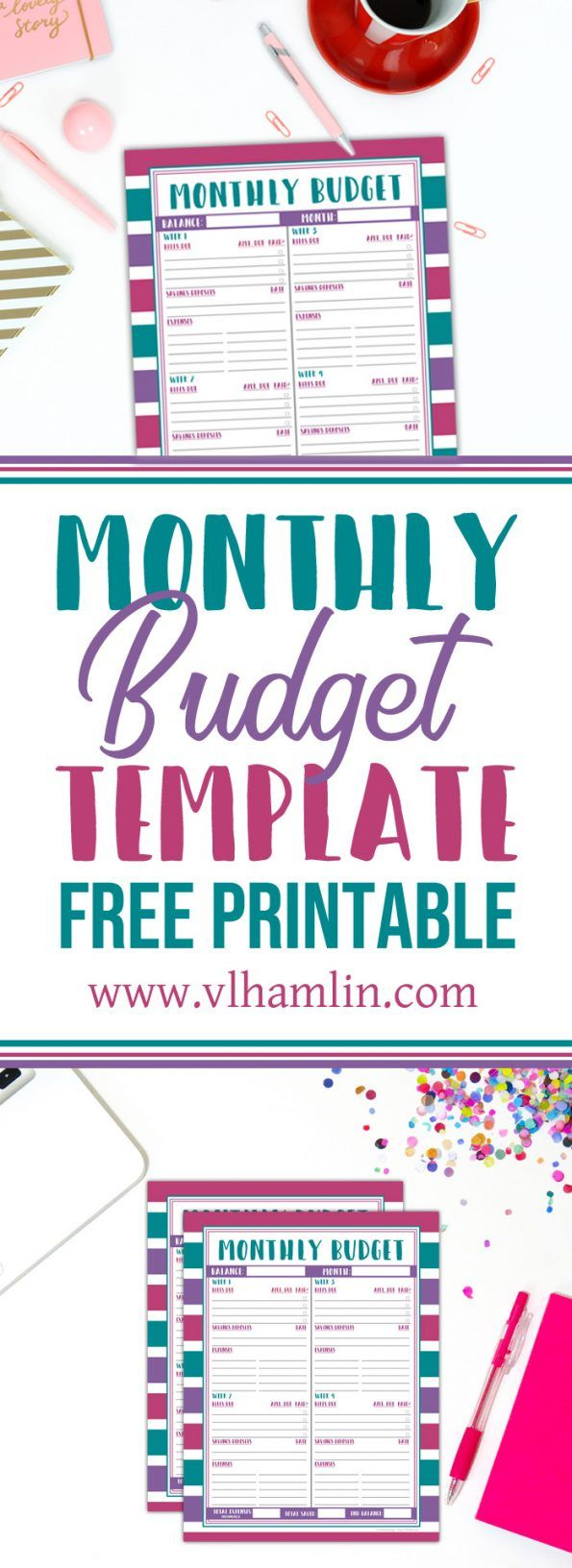 Monthly Budget Template Free Printable Free Printables Pinterest