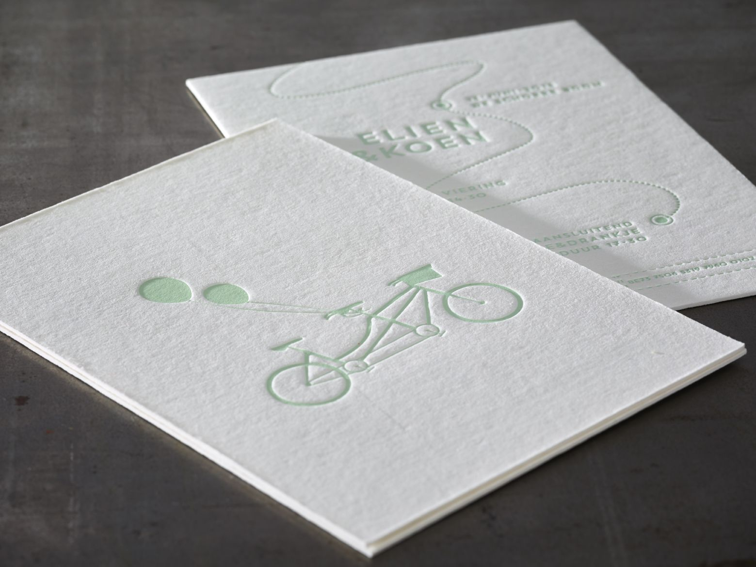Wedding Invitation E&K - Letterpress printing on Macho Mick Paper ...
