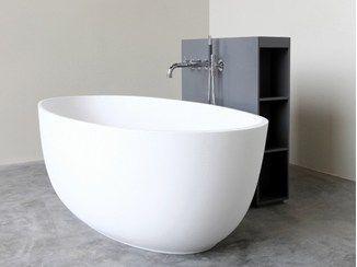 vasca da bagno centro stanza ovale in hi macs loop vasca da bagno