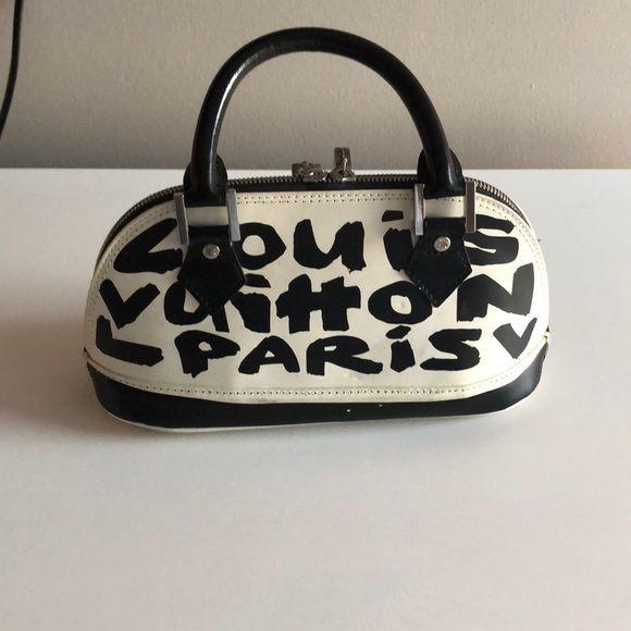 3150c41b25b Louis Vuitton Graffiti Alma PM Black This is a stunning Louis Vuitton  classic Alma with a