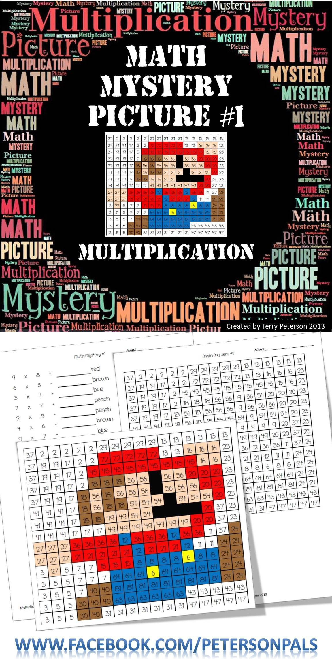 Math Mystery Picture #1 Multiplication | Multiplication facts ...