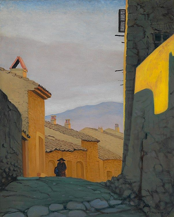 Felix Vallotton - Une rue à Cagnes | Landschaftsbilder ...