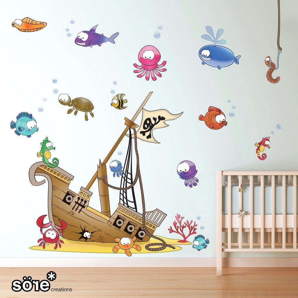 Sunken Pirate Ship Wall Sticker
