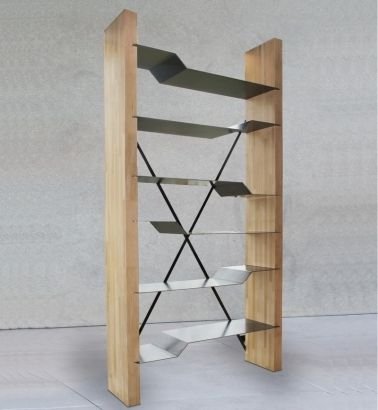Etagère métal bibliotheque design | Steel furniture, Metal furniture ...