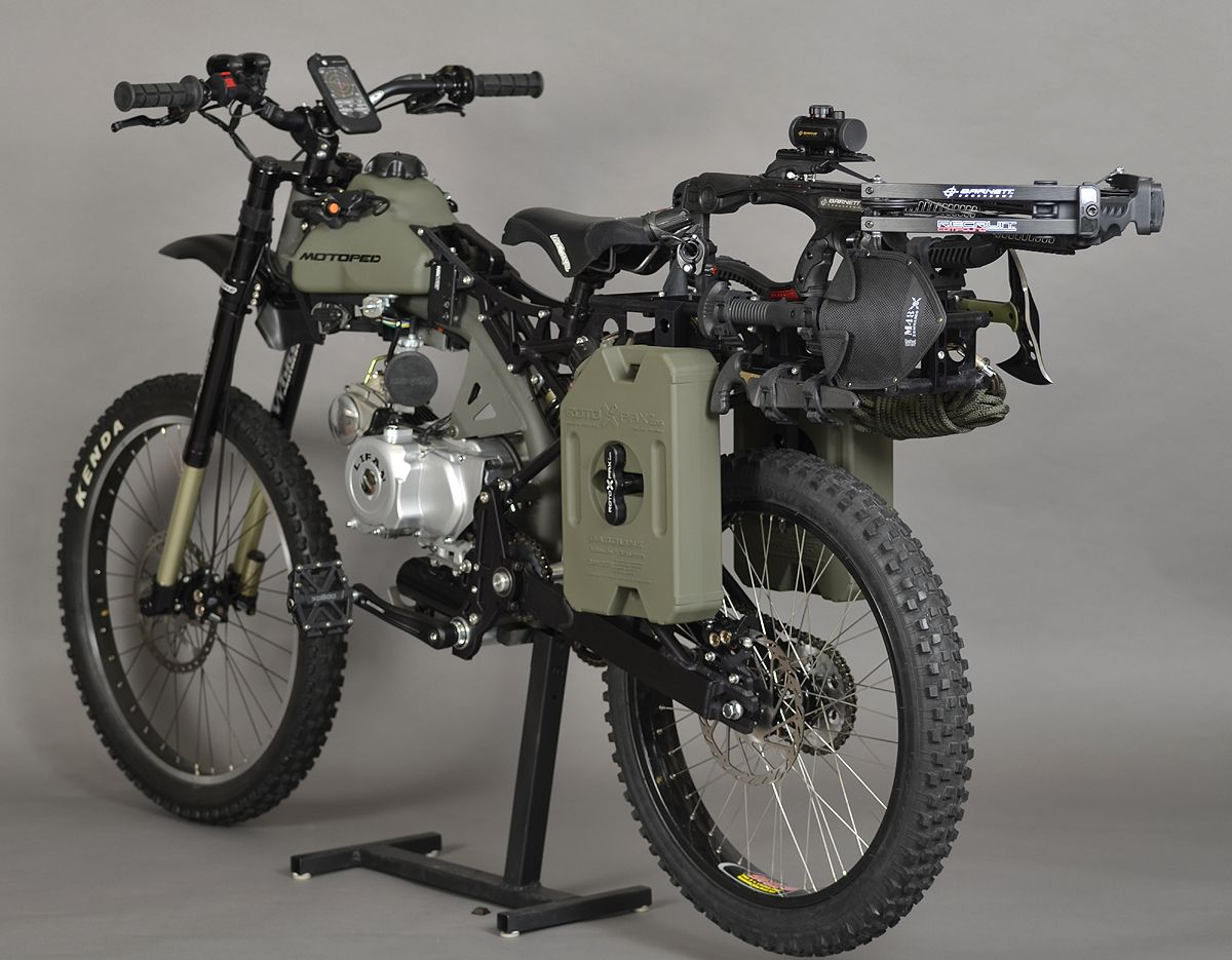 Motoped Just Launched An Off Road Extreme Survival Version Of Its Lightweight Honda Powered Moped Will It Be As Bug Out Vehicle Motorized Bicycle Motorcycle