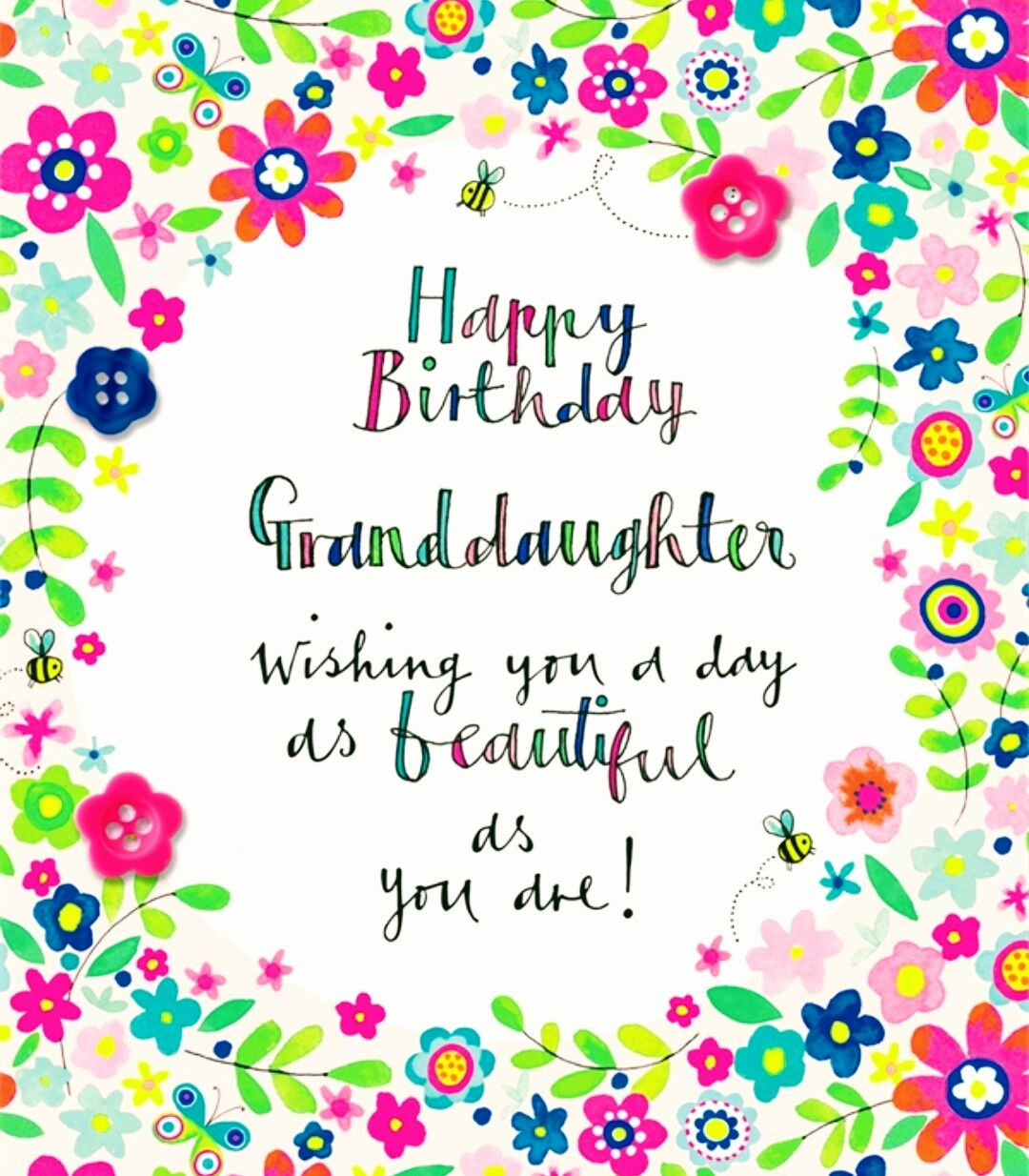 Happy Birthday Granddaughter! ☆♡ Birthday wishes
