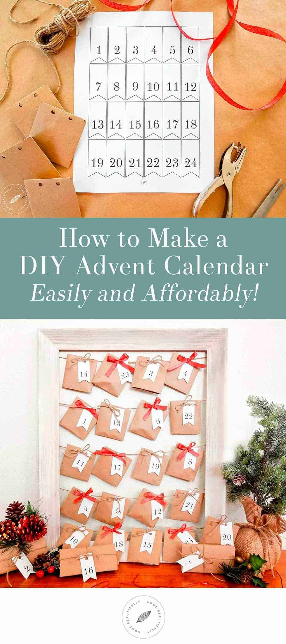Diy Advent Calendar For Adults : How to create a easy fun diy advent calendar advent calendars