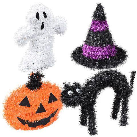 Bulk Mini Tinsel Halloween Characters at DollarTree Halloween - bulk halloween decorations