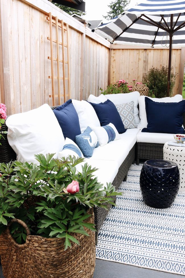 our side patio makeover patio pond giveaway the inspired room - Home And Garden Home Giveaway