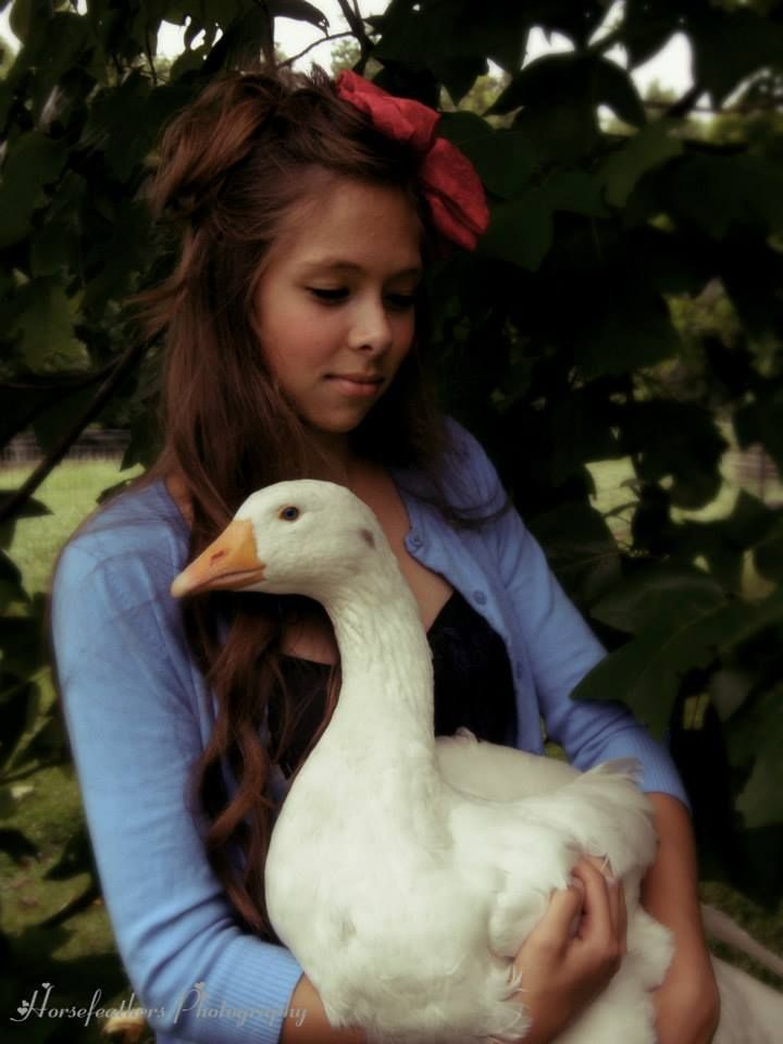 """Girl and Goose."" By Horsefeathers Photography, www"