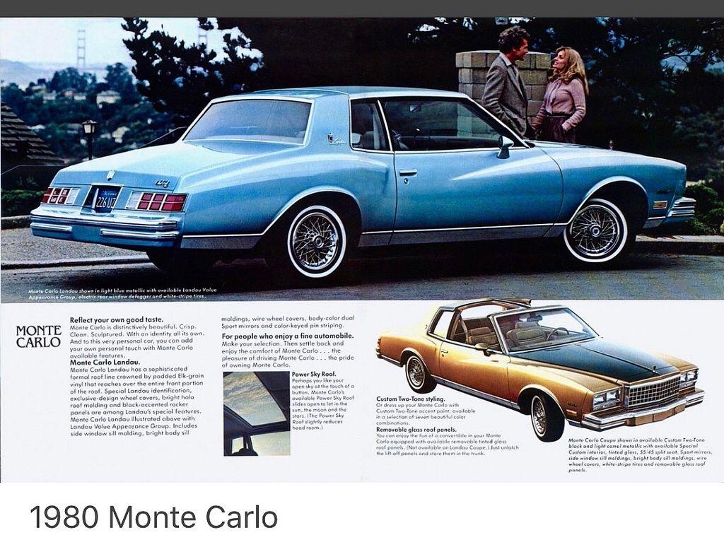 1980 Chevy Monte Carlo Usa Chevrolet Monte Carlo Chevrolet Monte Carlo