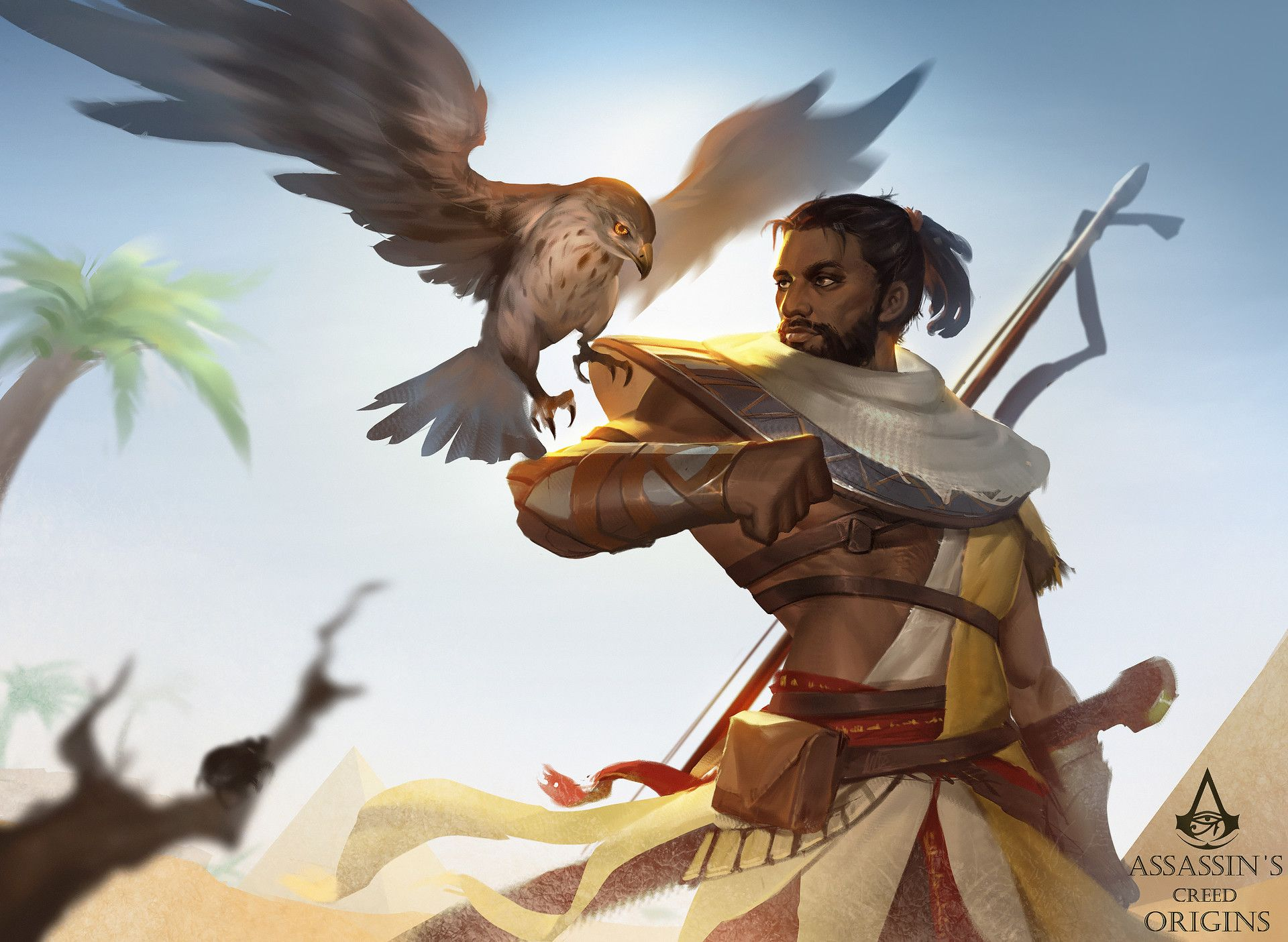 Artstation Assassin S Creed Origin Bayek Fanart Zhong Yang