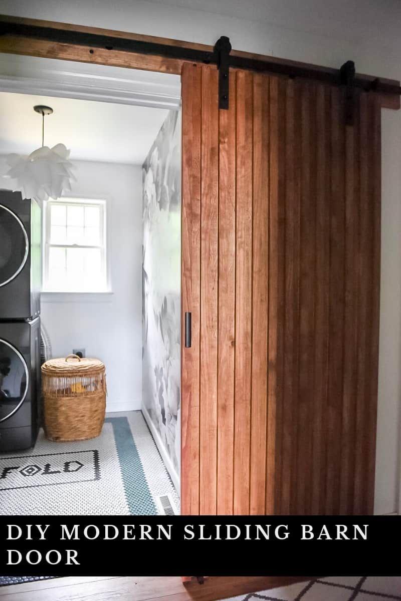 Diy Modern Sliding Barn Door Place Of My Taste Modern Sliding Barn Door Diy Sliding Barn Door Diy Sliding Door