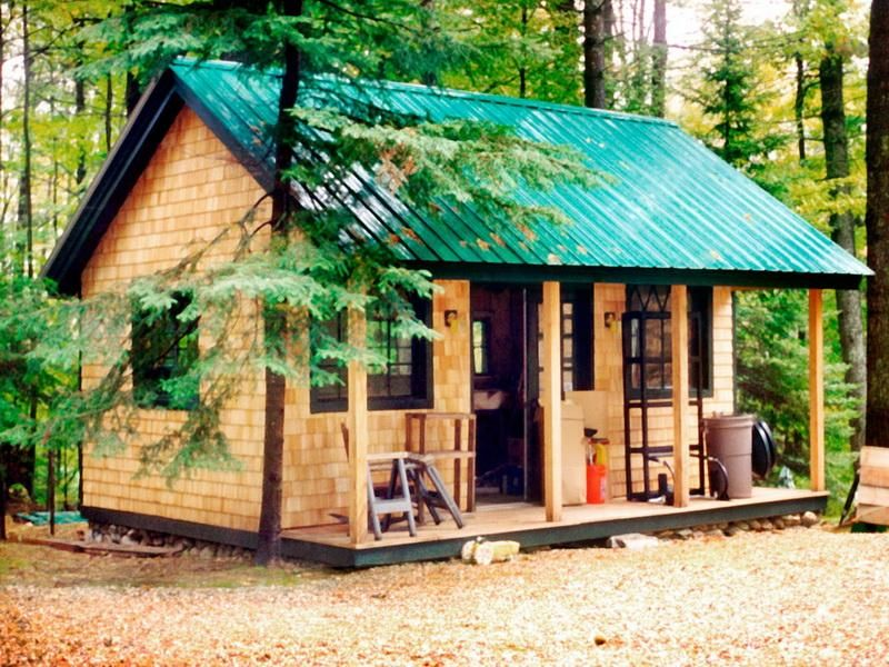 Small cabin floor plans tiny house hut cottage ideas for Small cabin design ideas