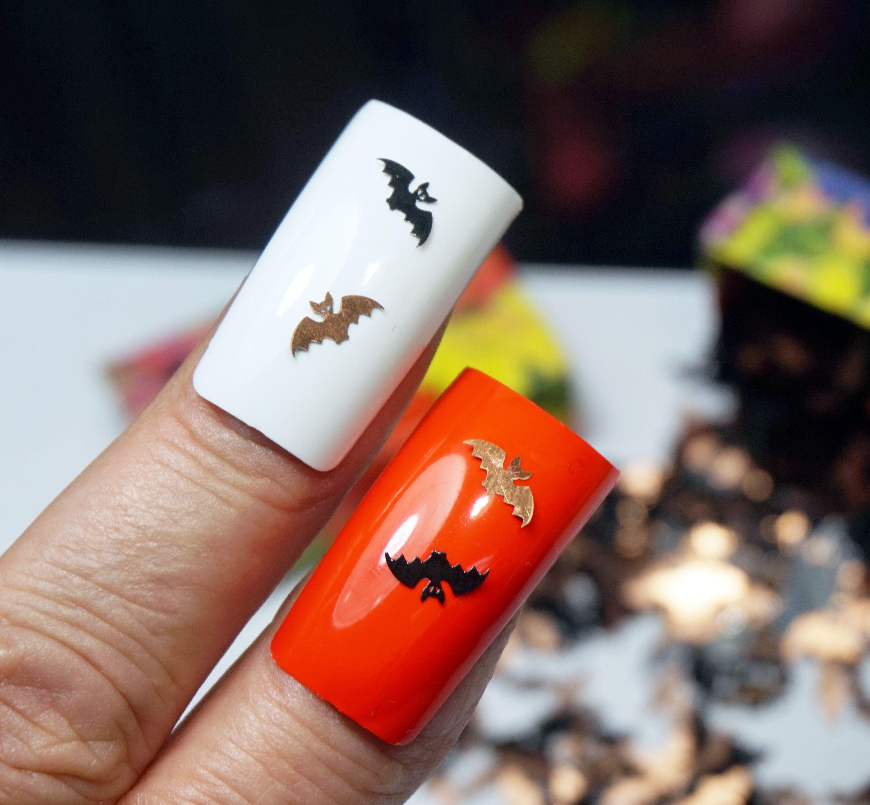 Bat mouse charms for nails halloween nails bats 3d nail