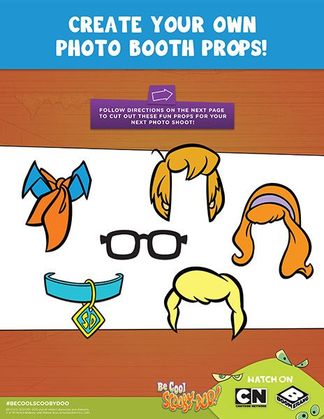 Print And Cut Out These Fun Scooby Doo Inspired Props To Use In Your Next Photo Shoot