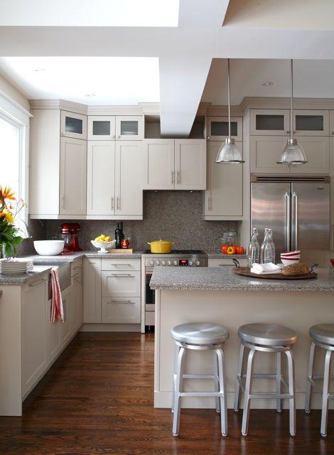Kitchen Renovation | Mushroom tone kitchen cabinets (BM ...